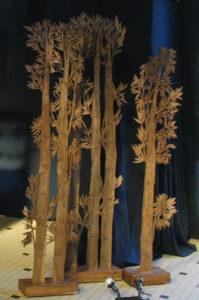 Grands Bambous en Noyer